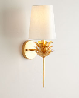 Laurel Gold-Leaf Sconce