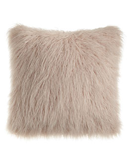 Mauve Tibetan Lamb Fur Pillo