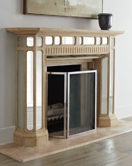 Stonecast Mirrored Mantel