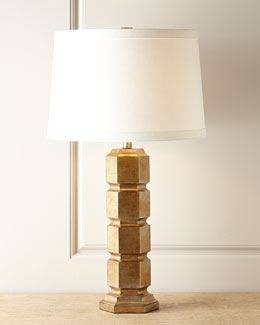 NM EXCLUSIVE Gold Leaf Hexagonal Lamp