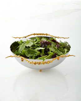 "Aboda 12"" Stainless Steel Salad Bowl"