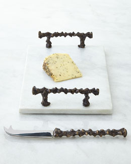 Aboda Marble Cheese Board & Knife