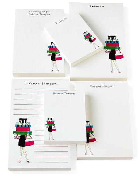 Shopping Girl Notepad Set