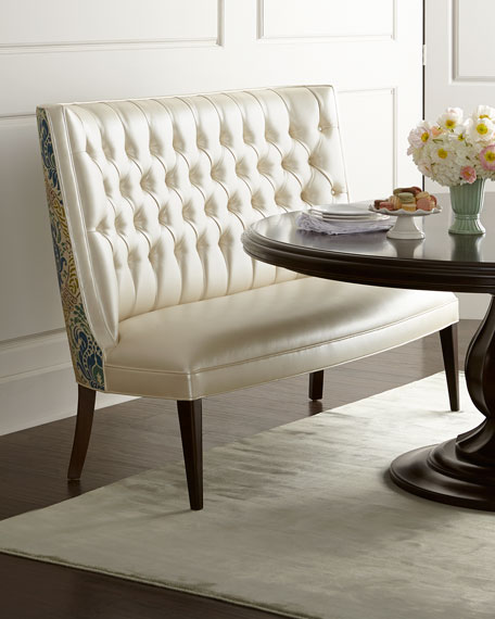Dining Table With Banquette: Haute House Isabella Wing Banquette, Liday Dining Table