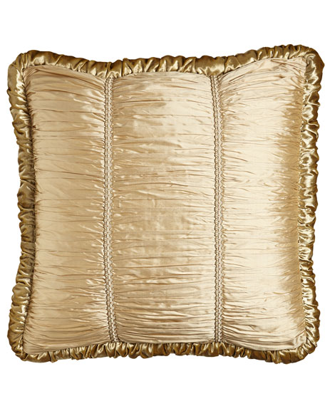 European Geneva Shirred Silk/Velvet Sham, 26