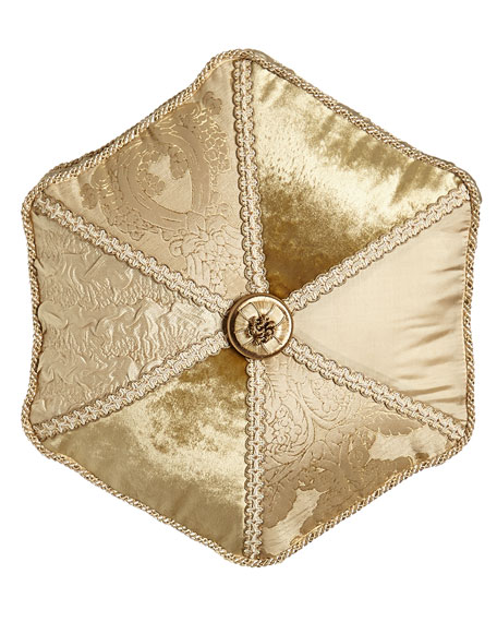 "Geneva Pieced Tambourine Pillow, 18""Dia."