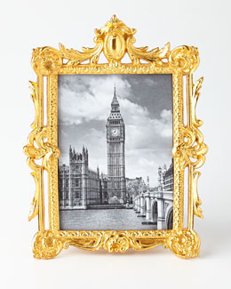 BANCHI Golden Ornate Rectangular Frame