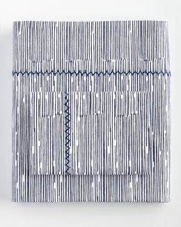 King Choti Striped 200TC Flat Sheet