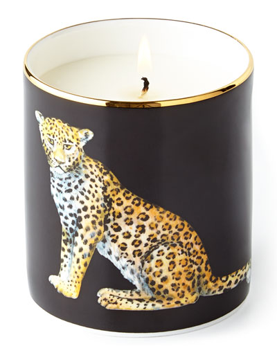 Leopard Filled Candle