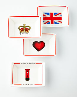 Four From London with Love Trays
