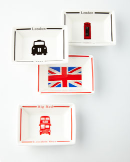 Halcyon Days Enamels Four London Calling Trays