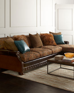 Massoud Autumn Jade Sectional Sofa