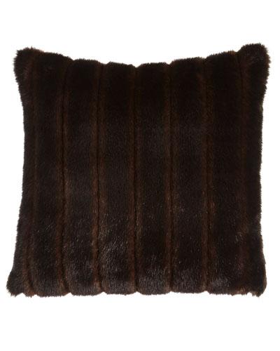 Faux-Mink Pillow, 20