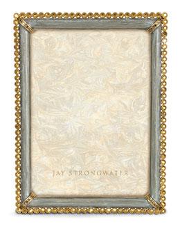 "Jay Strongwater Enamel & Stone-Edge 5"" x 7"" Frame"