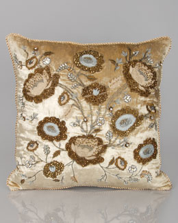 "Jay Strongwater Bouquet 20""Sq. Pillow"
