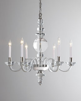 VISUAL COMFORT George II Large Polished-Nickel Chandelier