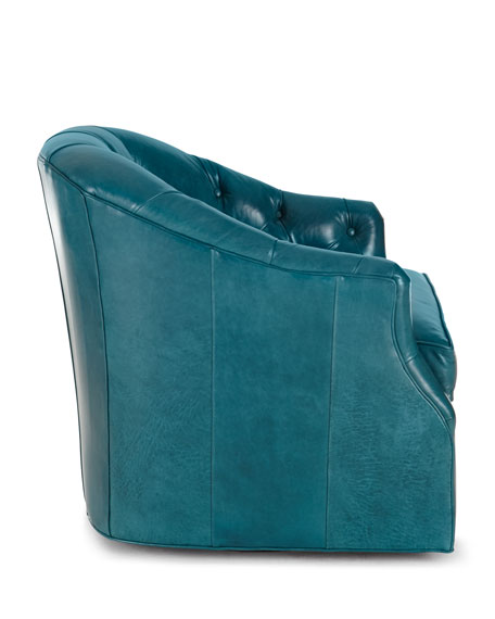 Rae St. Clair Peacock Blue Swivel Chair