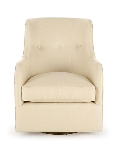 Cali St. Clair Gold Swivel Chair