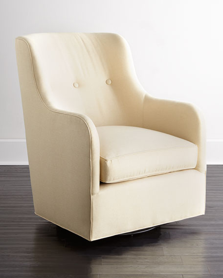 Cali St. Clair Gold Swivel Chair