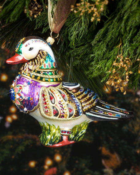Mandarin Duck Christmas Ornament