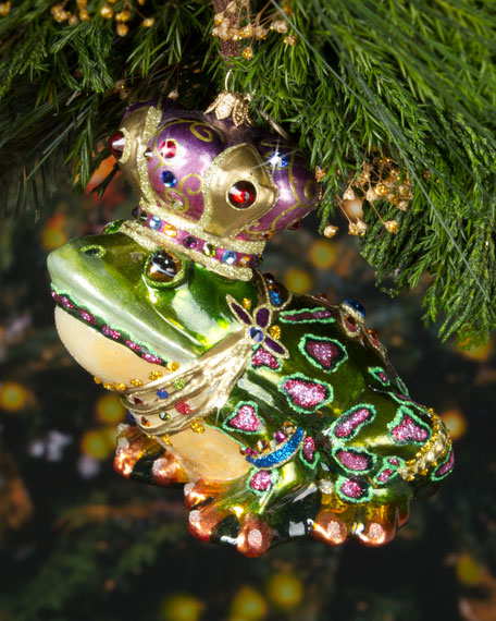Jay Strongwater Frog Prince Christmas Ornament