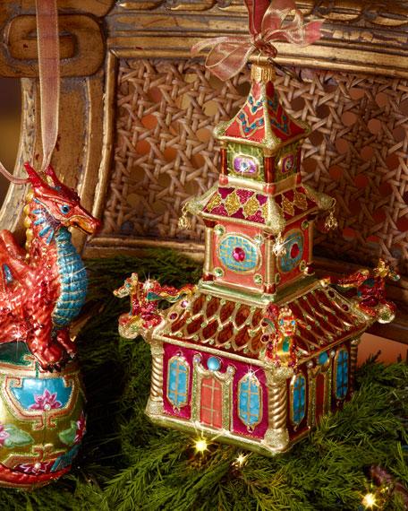 Triple Pagoda Christmas Ornament
