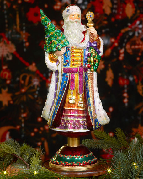 Jay Strongwater Victorian Style Santa Christmas Tree Topper