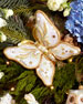 Floral Butterfly Christmas Ornament