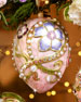 Floral & Cabochon Oval Christmas Ornament