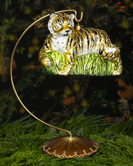 Stalking Tiger Christmas Ornament
