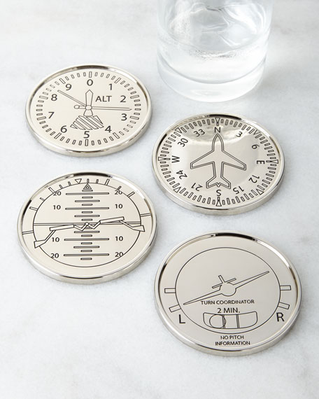 Four Airplane Coasters