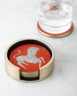Waylande Gregory Zebra Coasters