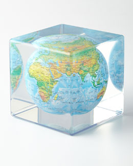 Mova Globe Blue Mova Cube with Relief Map