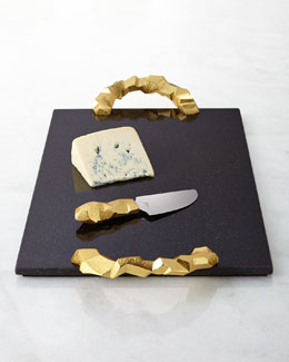 Rock Cheese Board with Knife