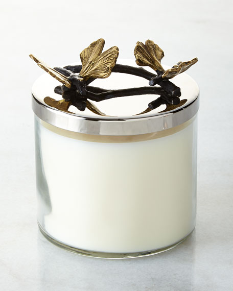 Butterfly Ginkgo Candle