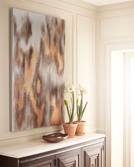 Cool Shimmer Abstract Painting