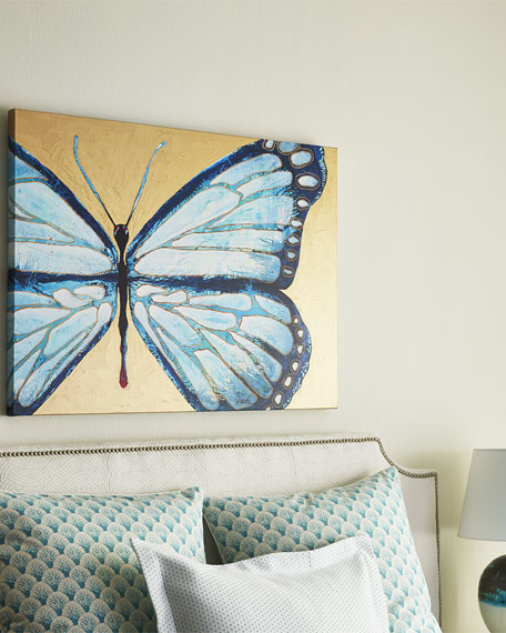 """Evelyn"" Blue Butterfly Print"
