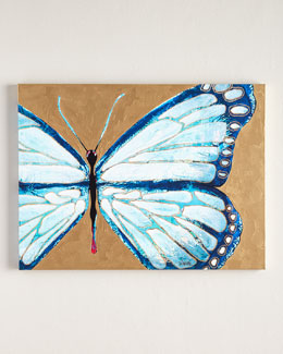 "Jennifer Moreman ""Evelyn"" Blue Butterfly Print"