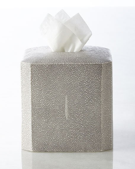 """Shagreen"" Tissue Box Cover"