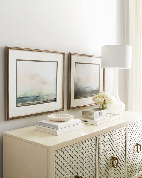 "Two ""Pranava Sunrise"" Giclee on Paper Wall Art Set"