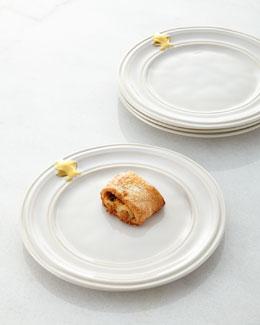 Juliska Four Acanthus Cocktail Plates