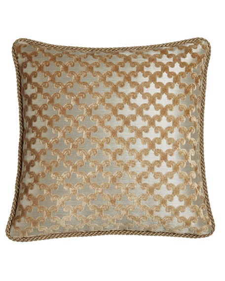 """Allure Reversible Pillow with Cording, 20""""Sq."""