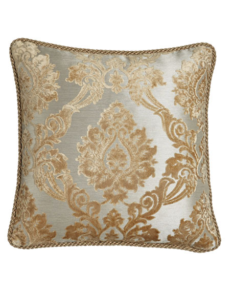 "Allure Reversible Pillow with Cording, 20""Sq."