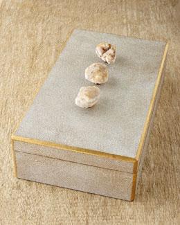 Chatham Faux-Shagreen Box
