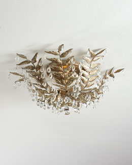 Cascading Leaves Champagne Flush Mount
