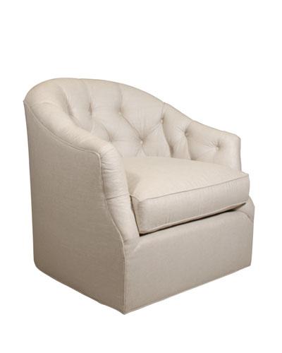 Rae St. Clair Linen-Texture Swivel Chair