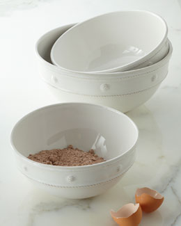 "Juliska Three ""Berry & Thread"" Mixing Bowls"