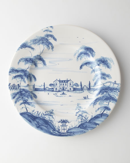 Country Estate Main House Dinner Plates. Set of 4