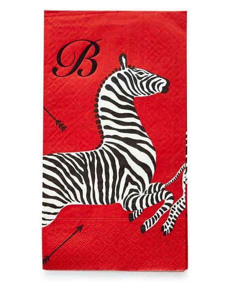 100 Zebras Buffet Napkins/Guest Towels