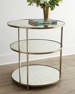 NM EXCLUSIVE Whitney Mirrored Side Table